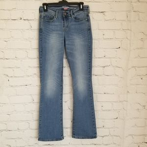 Denizen Levi Light Denim Curvy Boot Cut Jeans